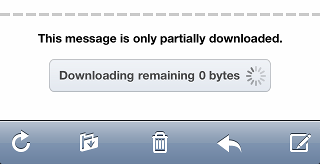 Download remaining 0 bytes
